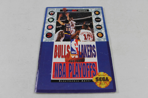 Manual - Bulls Vs Lakers The Nba Playoffs - Sega Genesis