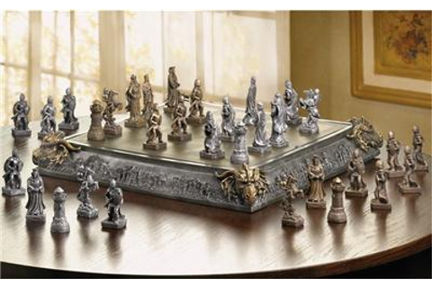 Medieval Times Fantasy Kingdom Castle Knight Dragon Chess ...