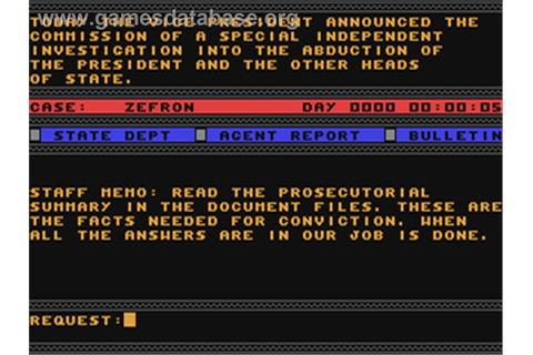 The President is Missing - Commodore 64 - Games Database