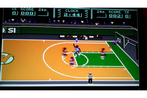 Magic Johnson Fast Break NES Game Play with old PEPSI Logo ...