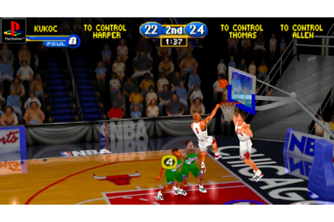 NBA Showtime: NBA on NBC - Gameplay PSX / PS1 / PS One ...