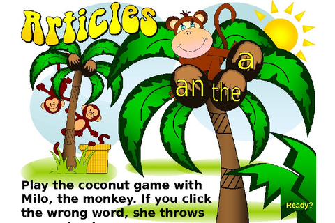 Play the coconut game with Milo, the monkey.