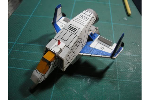 Hand Made Solvalou Fighter in 1/100 Scale from the game ...