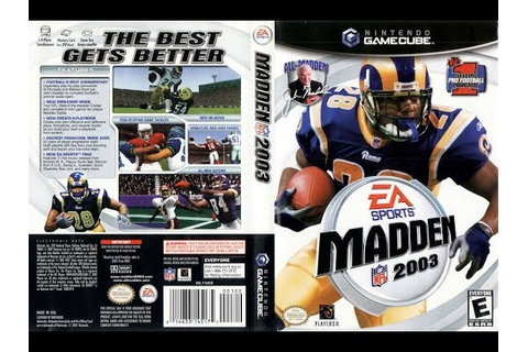 Madden NFL 2003 (Nintendo GameCube) Carolina Panthers vs ...