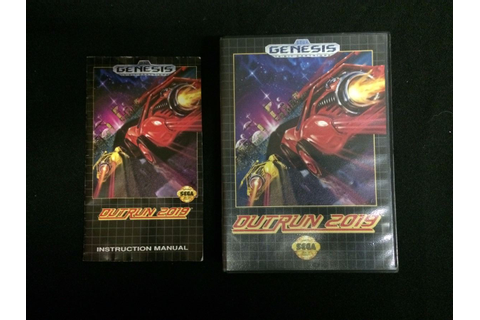 SEGA GENESIS OUTRUN 2019 VIDEO GAME W/ MANUAL