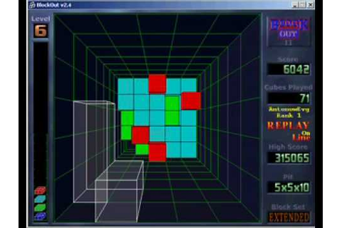 Blockout 2 - 3D Tetris Game - YouTube
