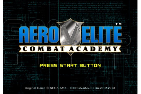 Aero Elite: Combat Academy (2002) by Sega AM2 PS2 game