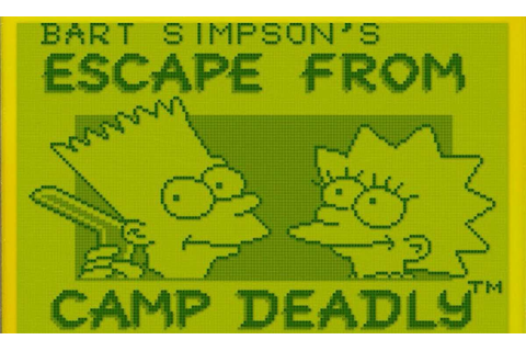 Bart Simpson's Escape From Camp Deadly - Game Boy trucchi