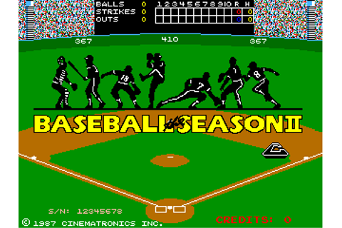Baseball The Season II, Arcade Video game by Cinematronics ...