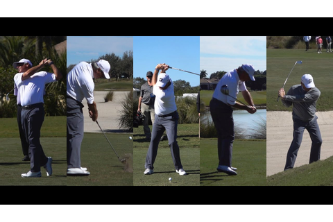 2016 FRED COUPLES 120fps SLOW MOTION & REGULAR GOLF SWING ...