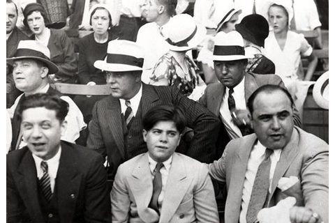 fuckyeahmobsters - Al Capone enjoy a baseball game with ...