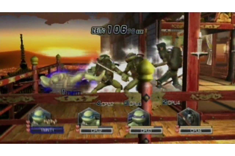 Teenage Mutant Ninja Turtles(TMNT) Smash-UP (Wii) Gameplay ...