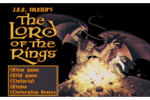 J.R.R. Tolkien's The Lord of the Rings, Vol. I (1990 - DOS ...
