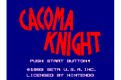 Cacoma Knight in Bizyland Download Game | GameFabrique