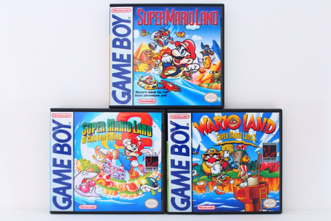 Super Mario Land 1, 2, 3 (Wario Land) Custom Cases Set *NO ...
