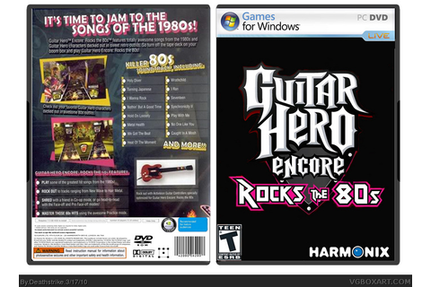 Guitar Hero Encore: Rocks the 80s PC Box Art Cover by ...