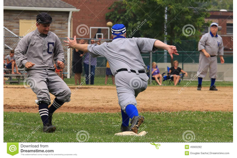 Old time Baseball game editorial photography. Image of ...