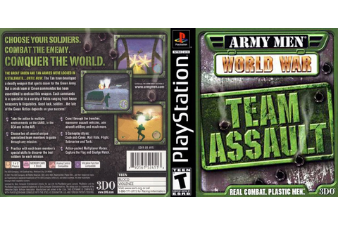 0 to Z of Playstation 1 Games - Army Men World War Team ...