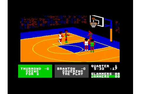 Fast Break Accolade C64 gameplay video - YouTube