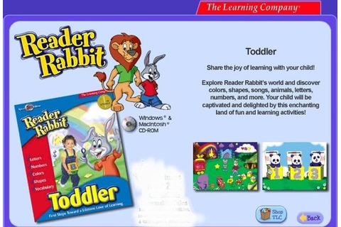 Reader Rabbit Toddler v2.0 aka Reader Rabbit Playtime for ...