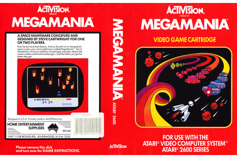 Atari 2600 VCS MegaMania : scans, dump, download ...