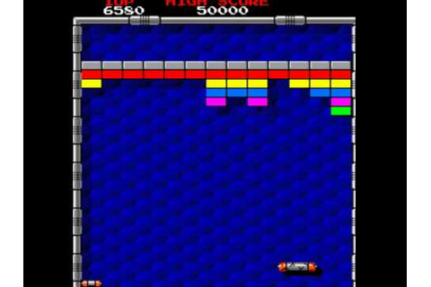 ARKANOID arcade game 1986 by Taito retro oldskool video ...
