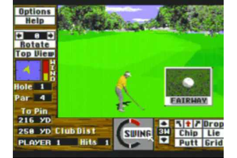 Links: The Challenge of Golf Game Sample - Sega CD - YouTube