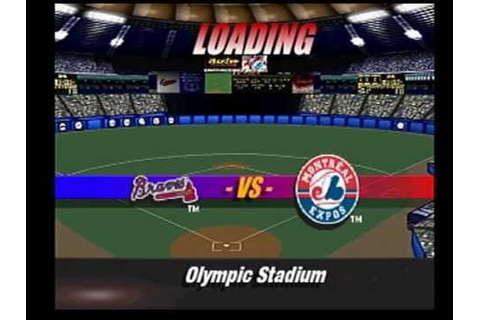 MLB 98 PS1 gameplay Braves at Expos - YouTube