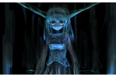 Video Games Touhou Dark Demons Horns Long Hair Oni Ibuki ...