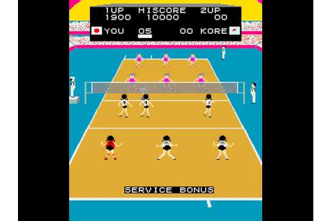 Arcade Game: Joshi Volleyball (1983 Taito) - YouTube