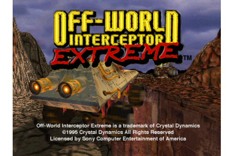 Super Adventures in Gaming: Off-World Interceptor Extreme ...