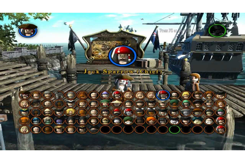 Lego Pirates Of The Caribbean - All Characters Unlocked ...