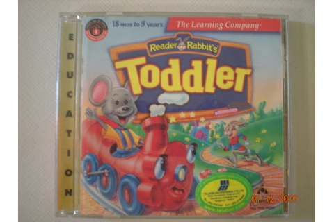 Reader Rabbit Toddler CD Rom $5 | Toddlers learn all about ...