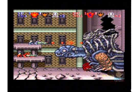 Super Probotector: Alien Rebels Super Nintendo Multiplayer ...