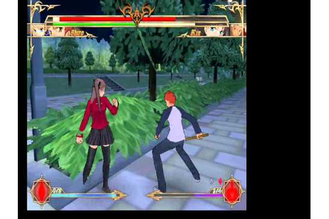 Gameplay de Crucis Fatal Fake, Fan-Game de Fate Stay Night ...