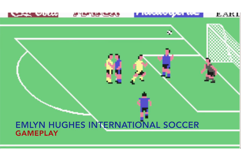 EMLYN HUGHES INTERNATIONAL SOCCER C64 Gameplay - Il padre ...