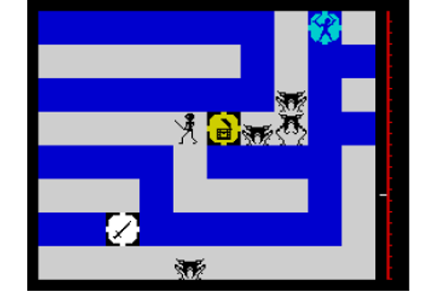Maziacs, ZX Spectrum – The King of Grabs