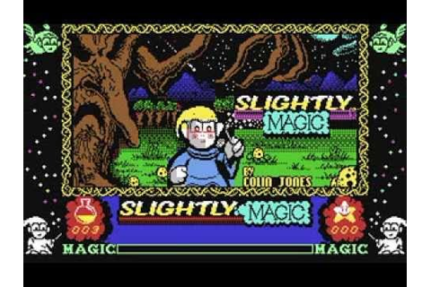 Commodore 64: Slightly Magic game ending by Codemasters ...