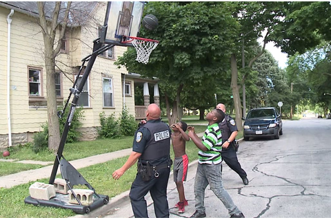 Police officers make time for daily basketball game with ...