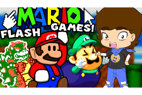 Mario's WEIRD Flash Games - ConnerTheWaffle - YouTube