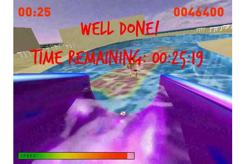Waterslide Slalom game. - YouTube
