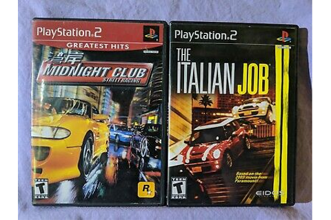 Midnight Club Street Racing & Italian Job PlayStation 2 ...