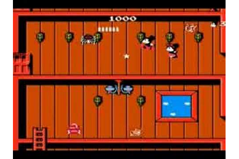 Classic Game Demo: Mickey Mouse Mousecapade - YouTube