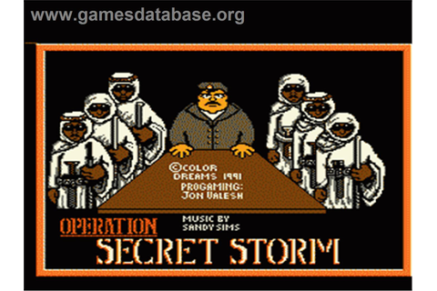 Operation Secret Storm - Nintendo NES - Games Database