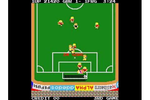 Arcade Game: Exciting Soccer (1983 Alpha Denshi Co.) - YouTube