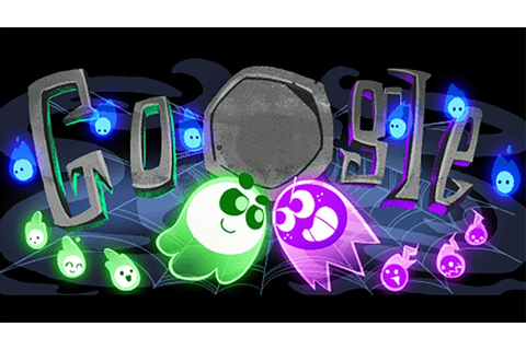 Google Doodle Halloween 2018 Gameplay 🎃 TEAM GREEN vs TEAM ...