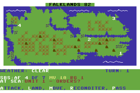 Falklands 82 (1985) by PSS C64 game