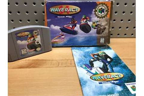 Wave Race 64 Complete Nintendo 64 N64 Game CIB Original ...