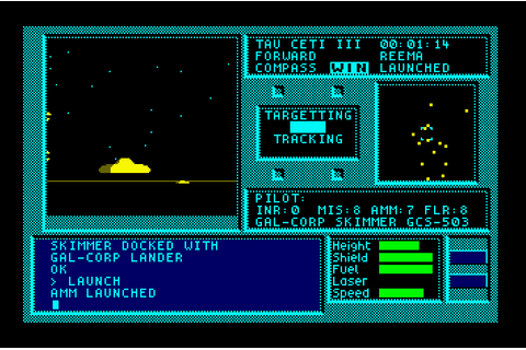 My all time favourite video games: Tau Ceti - Amstrad CPC ...