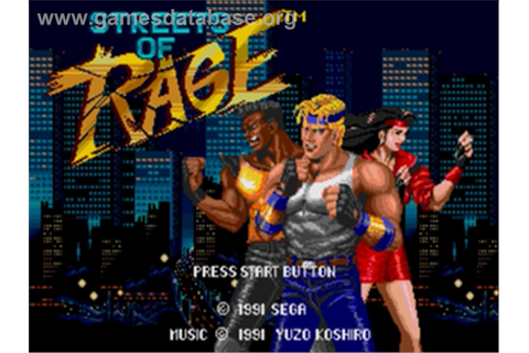 Streets of Rage - Sega Genesis - Games Database